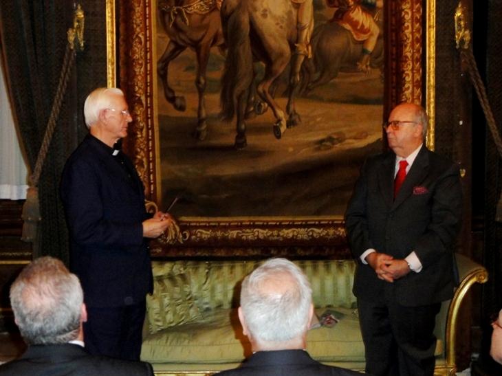 Dom Moacyr e o Sr Embaixador: ele teve atuação importante na aprovação do Acordo Brasil – Santa Sé
