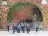 A Gruta de Lourdes: Feita pelos franceses, aí rezamos por todos os enfermos.