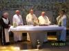 Concelebração festiva Frei Agostinho Frei Nilton, Frei Moacir, Frei Sérgio, Dom João Bosco